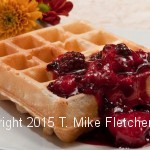 Belgium waffles with Berry Compote