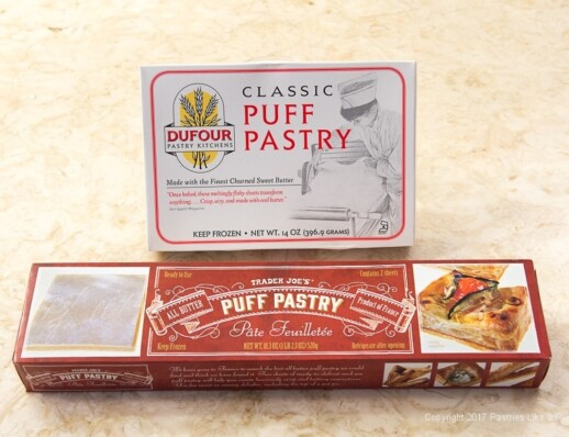 Both boxes of puff pastry for Purchased Puff Pastry