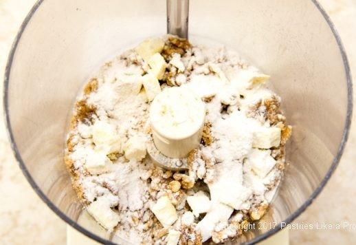 Streusel ingredients for Caramel Apple Tart