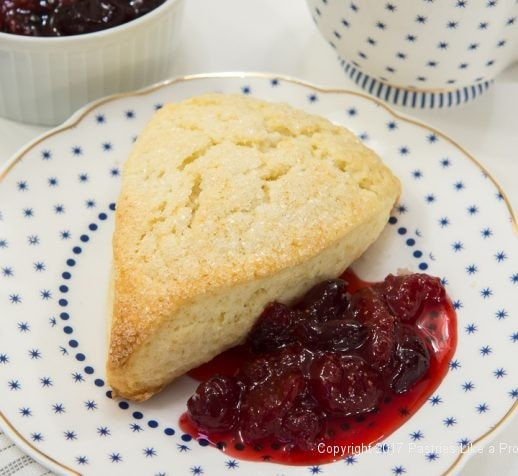 Scone with Cranberry Strawberry Jam