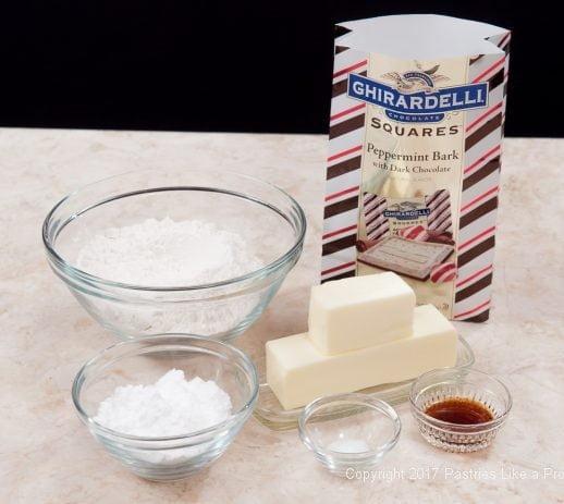 Ingredients for Peppermint Raviol Cookies i