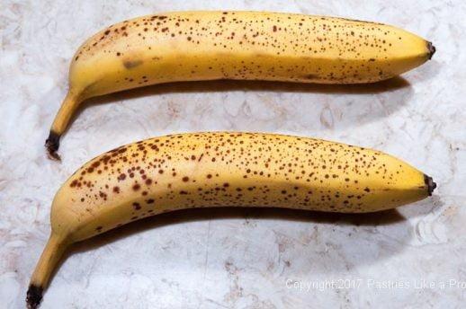 Ripe bananas for Two Step Banana Bread